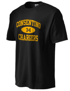 Consentino Middle School Chargers Tall Men's Essential T-Shirt