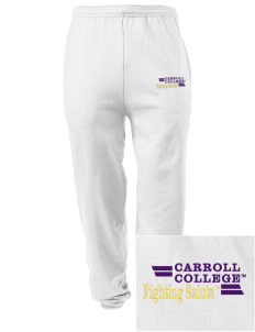 Carroll College Saints Embroidered Men's Sweatpants with Pockets
