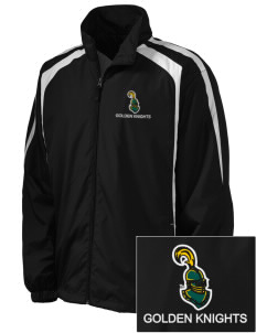 Clarkson University Golden Knights Embroidered Men's Colorblock Raglan Jacket