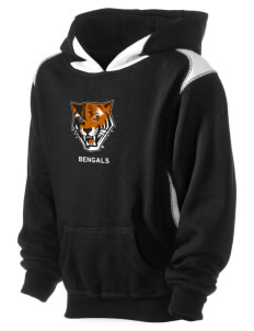 Buffalo State College Bengals Kid's Pullover Hooded Sweatshirt with Contrast Color
