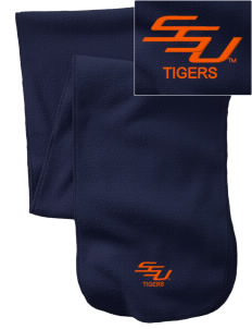 Savannah State University Tigers  Embroidered Extra Long Fleece Scarf