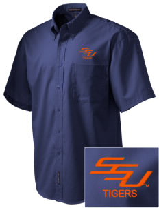 Savannah State University Tigers Embroidered Men's Easy Care Shirt