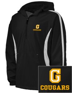Genesee Community College Cougars Embroidered Men's Colorblock Raglan Anorak