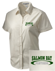 Salmon Bay Panthers Embroidered Women's Short Sleeve Easy Care, Soil Resistant Shirt