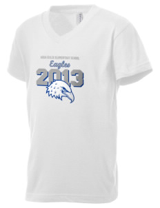 Agua Dulce Elementary School Eagles Kid's V-Neck Jersey T-Shirt