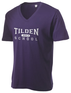 Tilden School School Alternative Men's 3.7 oz Basic V-Neck T-Shirt
