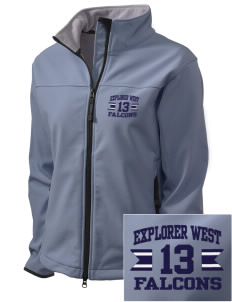 Explorer West Middle School Falcons Embroidered Women's Glacier Soft Shell Jacket