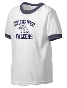 Explorer West Middle School Falcons Kid's Ringer T-Shirt