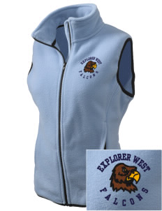 Explorer West Middle School Falcons Embroidered Women's Fleece Vest