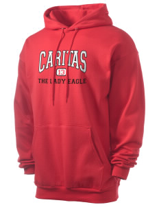 Caritas Academy The Lady Eagle Men's 7.8 oz Lightweight Hooded Sweatshirt