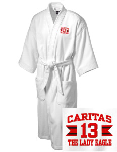 Caritas Academy The Lady Eagle Embroidered Terry Velour Robe