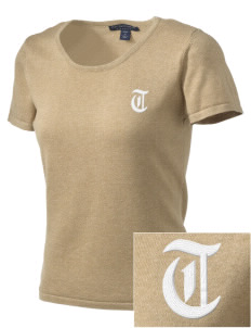 The DTC The DTC Embroidered Women's Fine-Gauge Scoop Neck Sweater