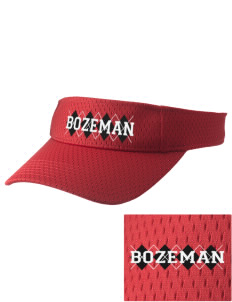 Bozeman Bozeman Embroidered Woven Cotton Visor