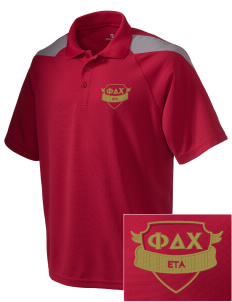 Phi Delta Chi Embroidered Holloway Men's Frequency Performance Pique Polo