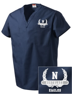 Northlake Elementary School Eagles Embroidered V-Neck Scrub Top
