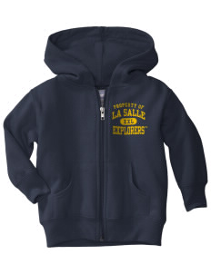 La Salle University Explorers  Toddler Hooded Zip Up Sweatshirt w/ Pockets