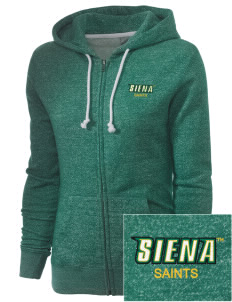 Siena College Saints Embroidered Women's Marled Full-Zip Hooded Sweatshirt