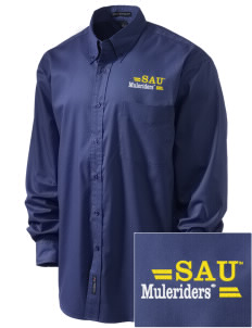 Southern Arkansas University Muleriders Embroidered Men's Easy-Care Shirt