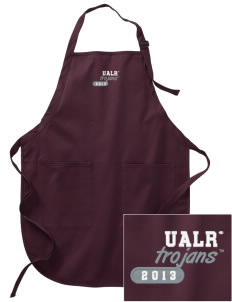 University of Arkansas at Little Rock Trojans Embroidered Full-Length Apron with Pockets