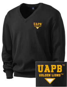University of Arkansas Pine Bluff Golden Lions Embroidered Men's V-Neck Sweater