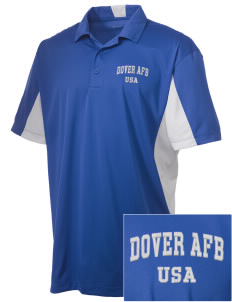 Dover AFB Embroidered Men's Side Blocked Micro Pique Polo