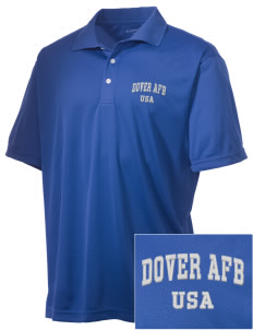 Dover AFB Embroidered Men's Double Mesh Polo