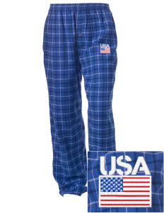 Keesler AFB Embroidered Unisex Button-Fly Collegiate Flannel Pant
