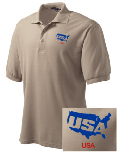 Kirtland AFB Embroidered Tall Men's Silk Touch Polo
