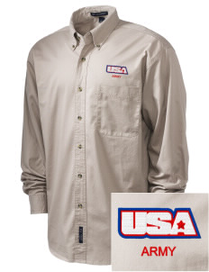 Anniston Army Depot Embroidered Tall Men's Twill Shirt