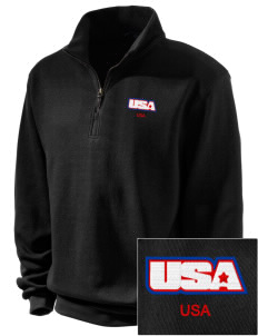 Fort Richardson Embroidered Men's 1/4-Zip Sweatshirt