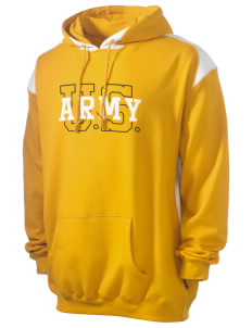 Fort Gillem Men's Pullover Hooded Sweatshirt with Contrast Color