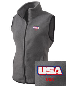 Camp Shelby Embroidered Women's Fleece Vest
