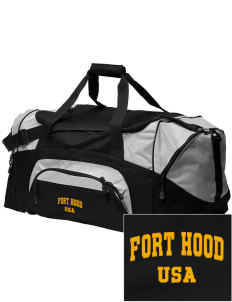 Fort Hood Embroidered Colorblock Duffel Bag