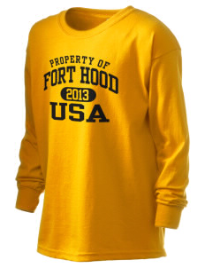 Fort Hood Kid's 6.1 oz Long Sleeve Ultra Cotton T-Shirt