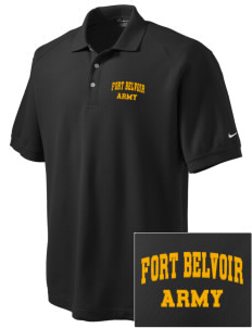 Fort Belvoir Embroidered Nike Men's Pique Knit Golf Polo
