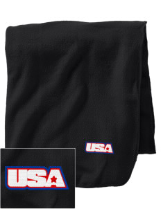 Fort Mccoy Embroidered Holloway Stadium Fleece Blanket