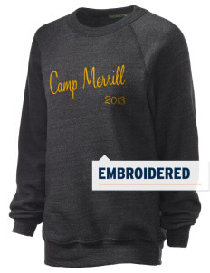 Camp Frank D. Merrill Embroidered Unisex Alternative Eco-Fleece Raglan Sweatshirt