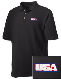 Bad Aibling Station Embroidered Men's Performance Plus Pique Polo
