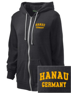 Hanau Embroidered Alternative Unisex The Rocky Eco-Fleece Hooded Sweatshirt