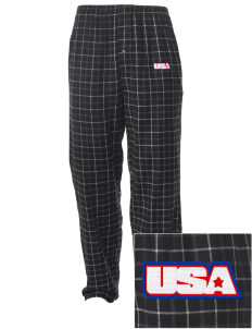 Kaiserslautern Embroidered Men's Button-Fly Collegiate Flannel Pant