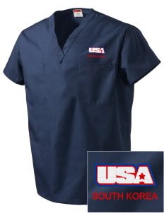 Camp Casey Embroidered V-Neck Scrub Top