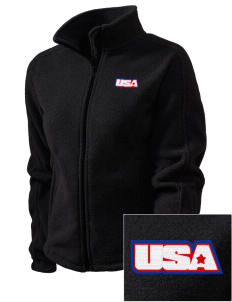 Camp Hialeah-Pusan Embroidered Women's Fleece Full-Zip Jacket