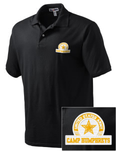 Camp Humphreys Embroidered Men's Jersey Polo