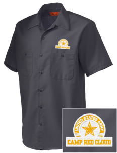Camp Red Cloud Embroidered Men's Cornerstone Industrial Short Sleeve Work Shirt