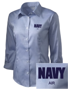 Jacksonville Naval Air Station Embroidered Women's 3/4 Sleeve Non-Iron