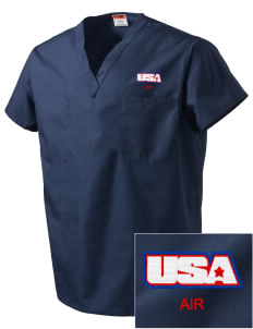 Corpus Christi Naval Air Station Embroidered V-Neck Scrub Top
