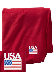 Camp Lejeune Embroidered Holloway Stadium Fleece Blanket