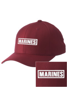 Camp Lejeune Embroidered Pro Model Fitted Cap