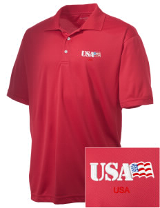 Parris Island Recruit Depot Embroidered Men's Double Mesh Polo