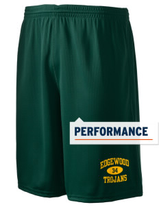 "Edgewood High School Trojans Holloway Men's Speed Shorts, 9"" Inseam"